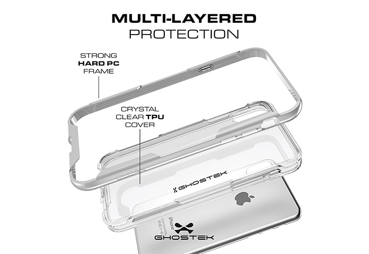Ghostek Cloak 3 iPhone X Tough Case - Clear / Black