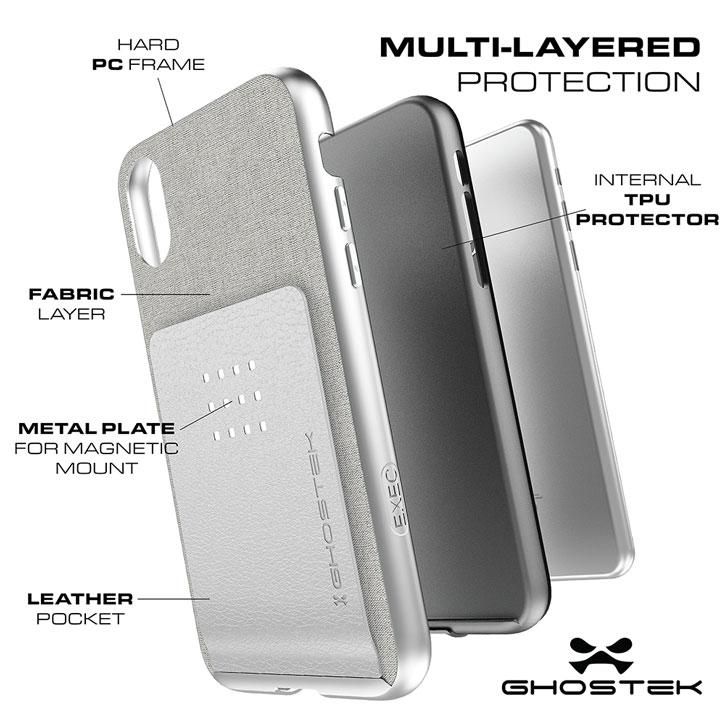 Ghostek Exec Series iPhone X Wallet Case - Brown