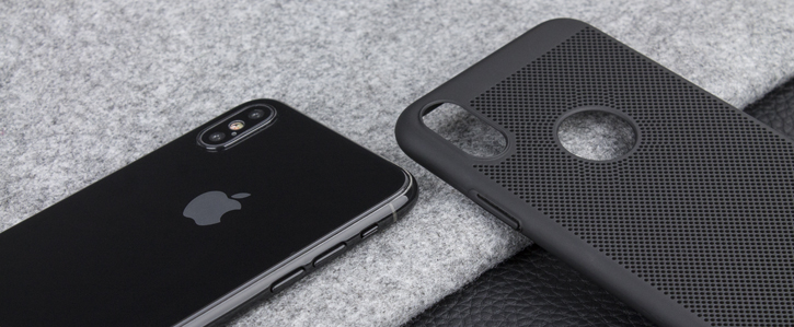 Olixar MeshTex iPhone X Case - Tactical Black