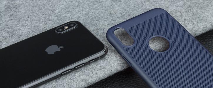 Olixar MeshTex iPhone X Case - Deep Ocean Blue