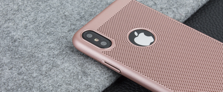 Olixar MeshTex iPhone X Case - Rose Gold
