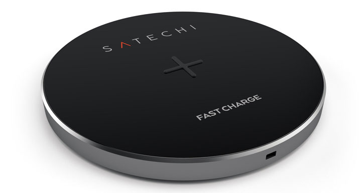 Satechi Portable Universal Qi Wireless Charging Pad - Space Grey