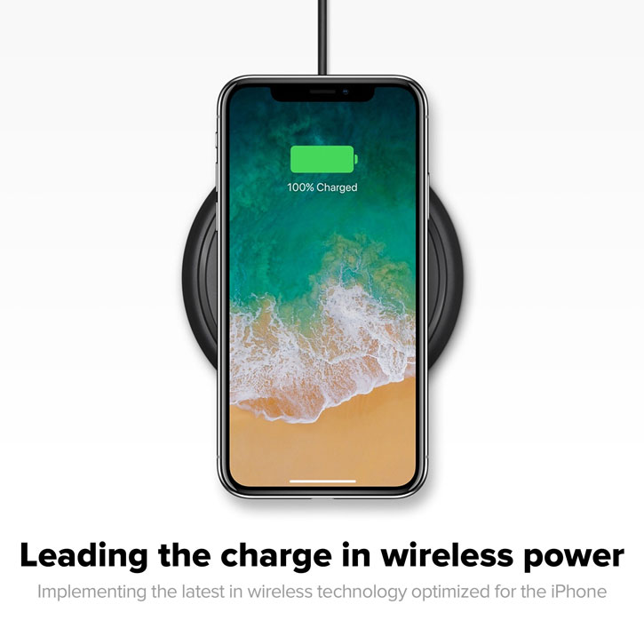 Chargeur sans fil iPhone X / 8 Plus / 8 Mophie Quick Charge Qi