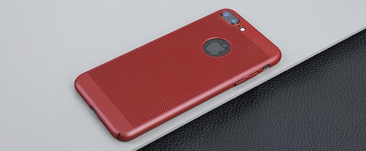 coque iphone 7 plus olixar meshtex rouge cuivr. Black Bedroom Furniture Sets. Home Design Ideas