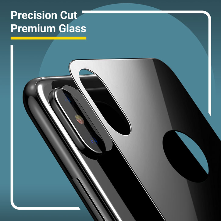 Olixar GlassTex iPhone X Screen and Back Glass Protectors - Black