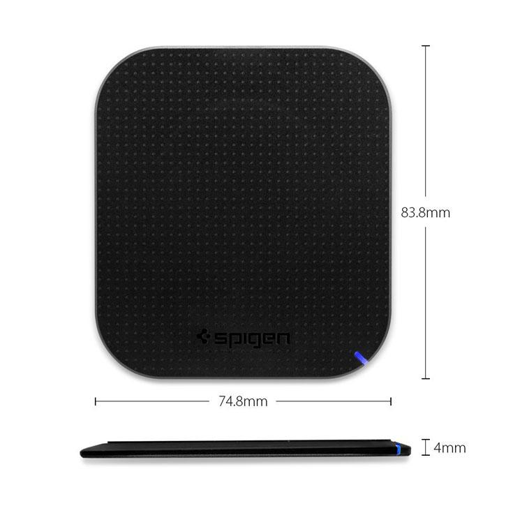 Spigen Essential F302W Universal Wireless Charging Pad - Black