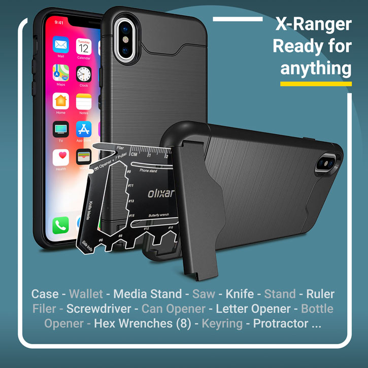 Olixar X-Ranger iPhone X Survival Case - Tactical Black