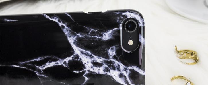 Coque iPhone 8 / 7 LoveCases Marbre - Noire