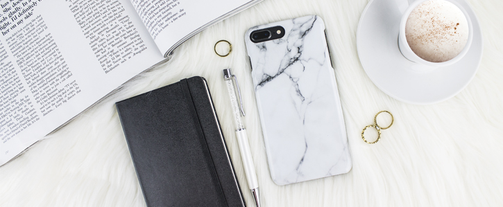 LoveCases Marble iPhone 8 Plus / 7 Plus Case - Classic White