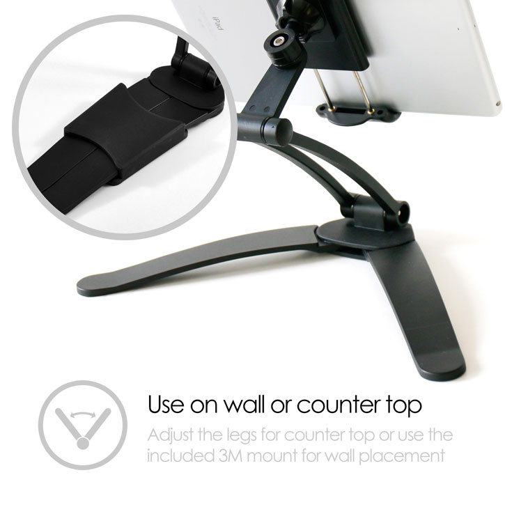 Desire2 2-in-1 Wall & Desk Portable Tablet Mount - Black