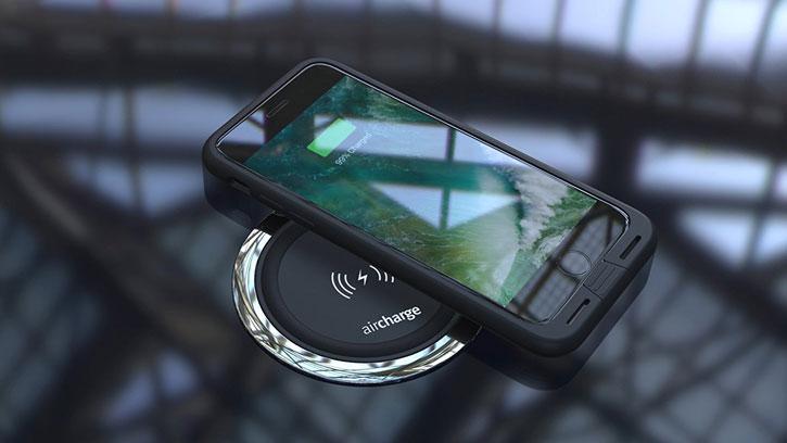 Coque de chargement iPhone 7 Aircharge Compatible Qi - Noire