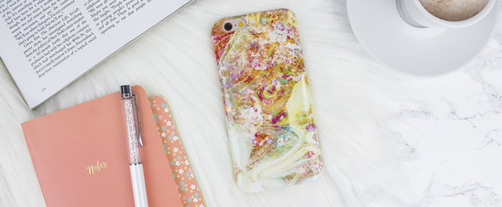 LoveCases Marble iPhone 6S / 6 Case - Opal Gem Yellow