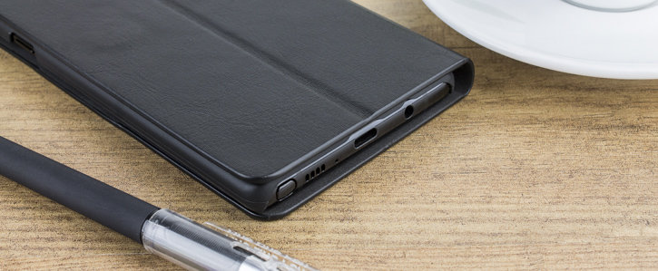 Olixar Samsung Galaxy Note 8 Leather-Style Wallet Stand Case - Black