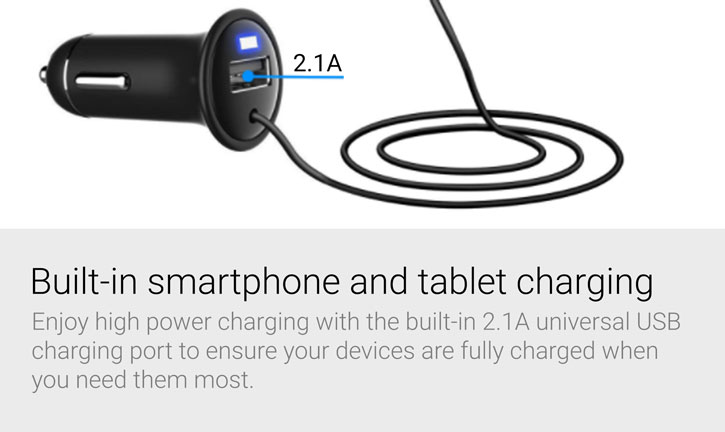 Forever FM Transmitter and Wireless Bluetooth with 2.1A Car Charger