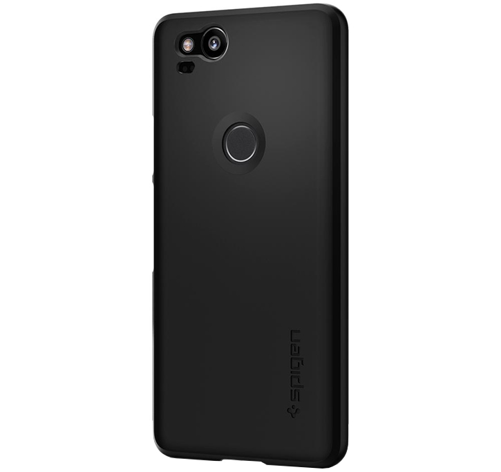 Spigen Thin Fit Google Pixel 2 Shell Case - Black