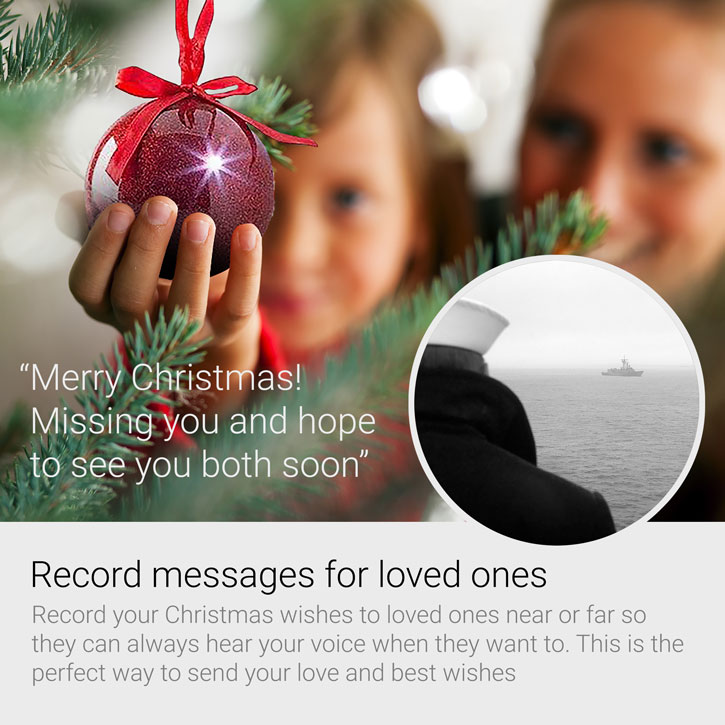 Gold Recordable Message Christmas LED Glitter Bauble