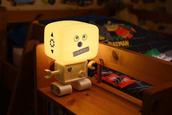 AGL Roboglow Rechargeable LED Robot Night Light