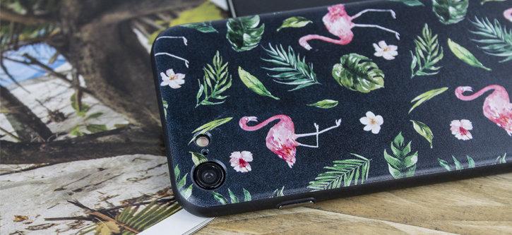 Coque Phone 8 / 7 LoveCases Paradise Lust – Flamand Rose vue sur appareil photo