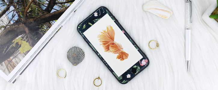 LoveCases Paradise Lust iPhone 6S / 6 Case - Flamingo Fall
