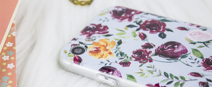 Coque iPhone 8 / 7 LoveCases Floral Art – Bleue