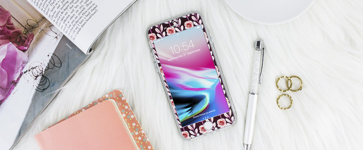 Coque iPhone 8 / 7 LoveCases Floral Art – Maroon