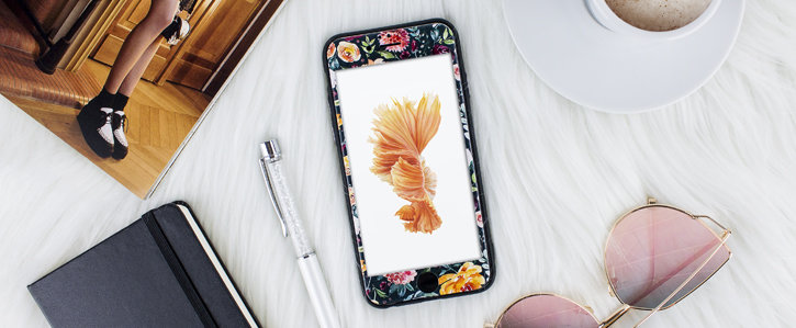 LoveCases Floral Art iPhone 6S / 6 Case - Black