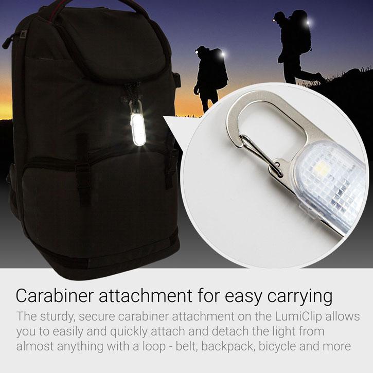 Echo Three LumiClip Pocket Torch Light w/ Carabiner Attachment