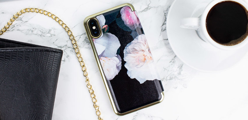 Ted Baker Nalibise iPhone X Mirror Folio Case - Chelsea Black