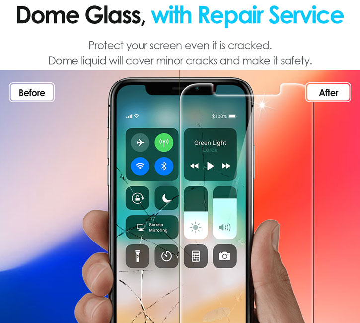 Whitestone Dome Glass iPhone X Full Cover Screen Protector