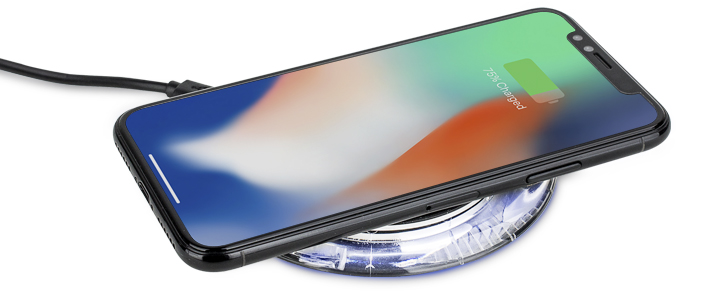Aiino iPhone X / 8 Plus / 8 Qi Wireless Charging Pad - Black / Clear