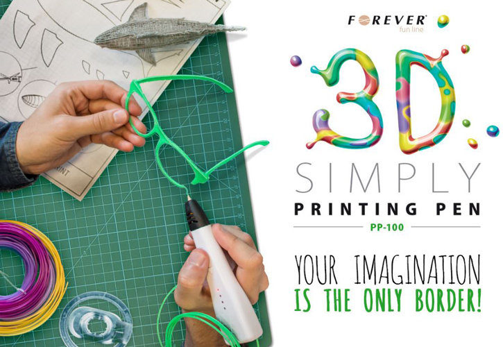 Stylo 3D d'impression Forever 3D Simply PP-100