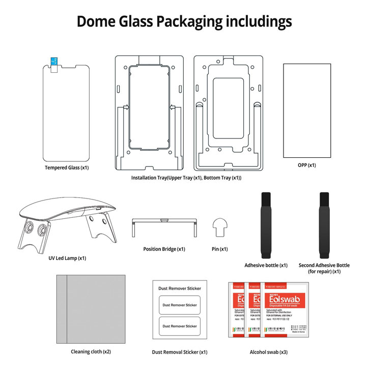 Whitestone Dome Glass LG V30 Full Cover Skärmskydd
