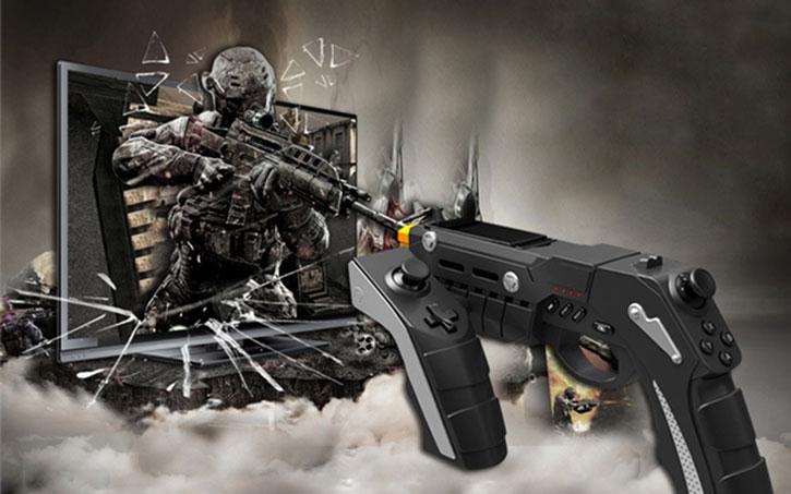 iPega Phantom Shox Bluetooth Gun Gaming Controller for Android & iOS