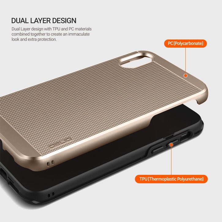 Obliq Slim Meta IPhone X Case - Champagne Gold