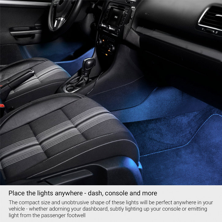 Type S Quadmicro Mini In Car Dashboard Console Led Lights 4 Pack