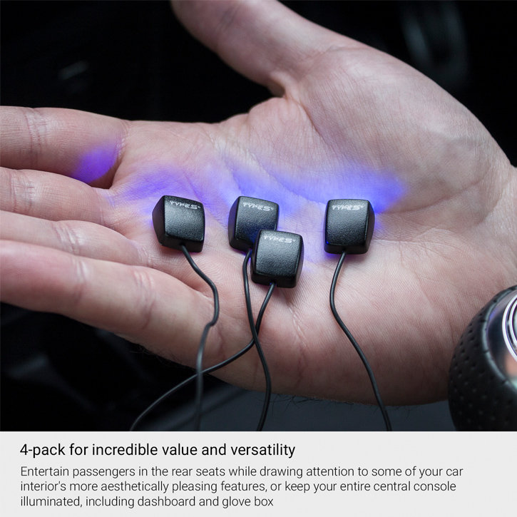Typ S QuadMicro Mini Armaturenbrett in-Auto Konsole LED Lichter – 4er