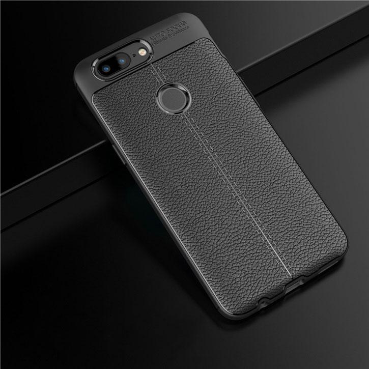 Olixar Attaché Premium iPhone X Leather-Style Protective Case - Black