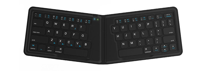 Kanex MultiSync Universal Foldable Bluetooth Mini Travel Keyboard