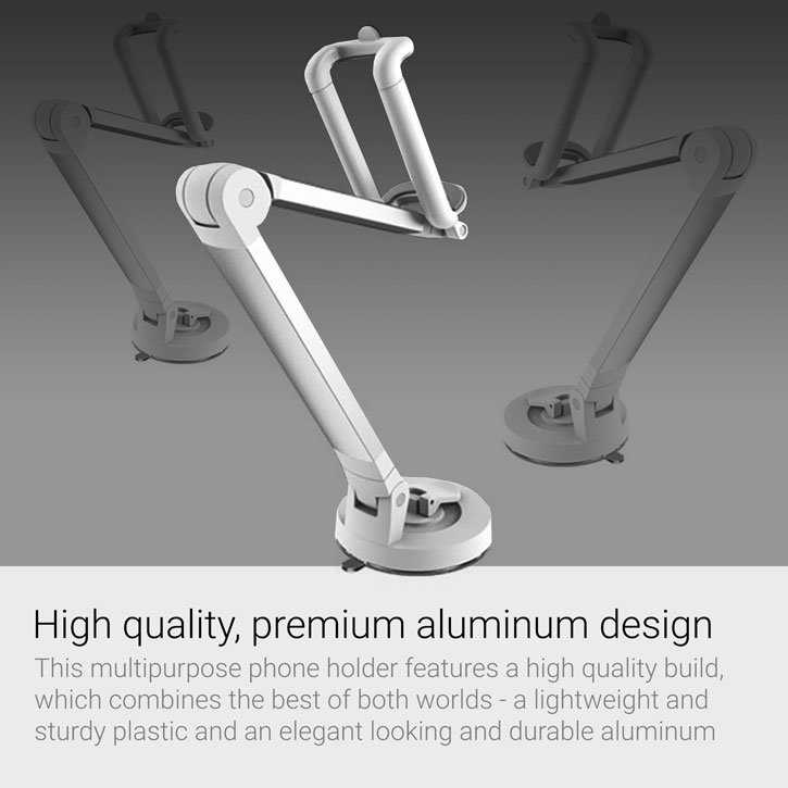 Universal Adjustable Multipurpose Smartphone Holder - Silver