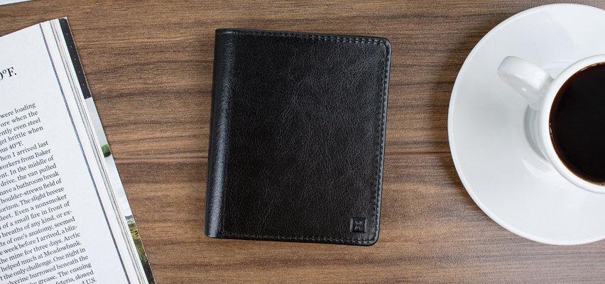 Porte-cartes & portefeuille Olixar RFID cuir - Noir