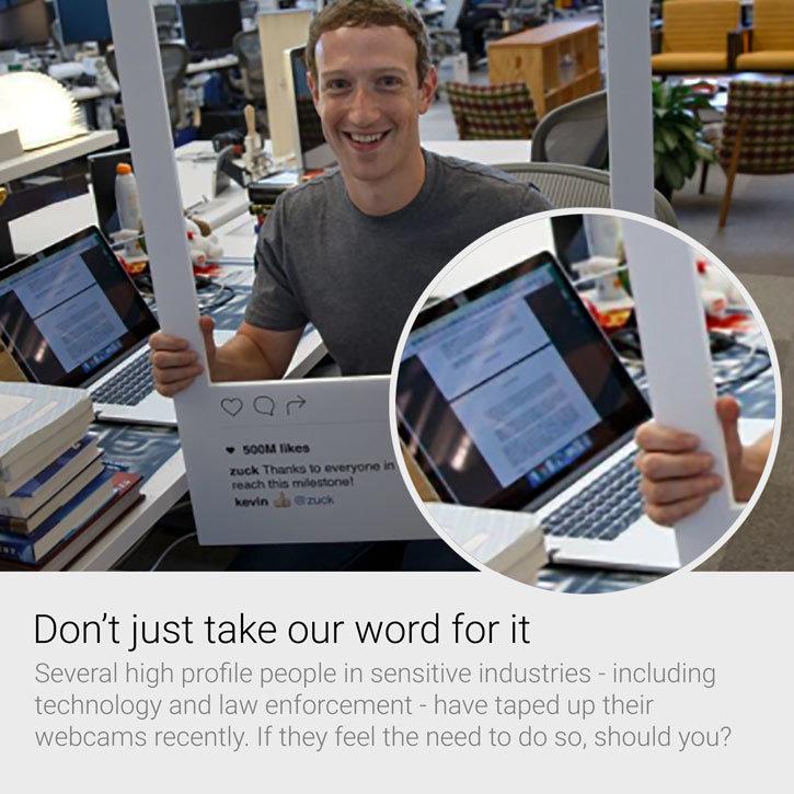 Olixar Anti-Hack Webcam Abdeckung für Smartphones, Laptops und Tablets