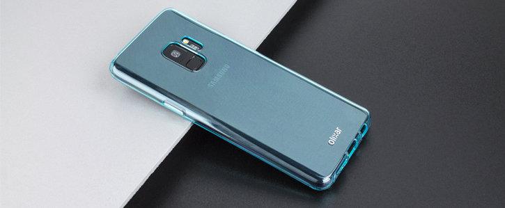 Olixar FlexiShield Samsung Galaxy S9 Gel Case - Coral Blue
