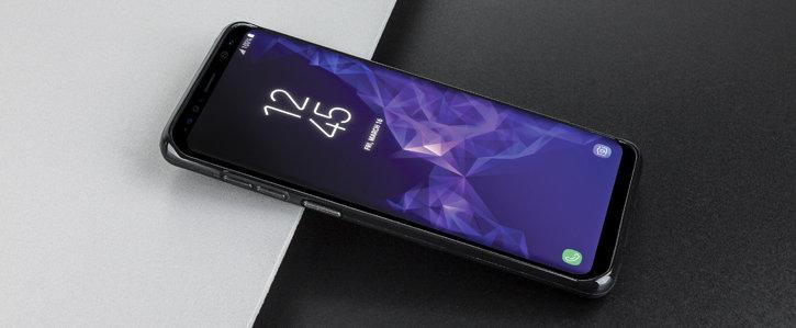 Olixar FlexiShield Samsung Galaxy S9 Plus Gel Case - Solid Black