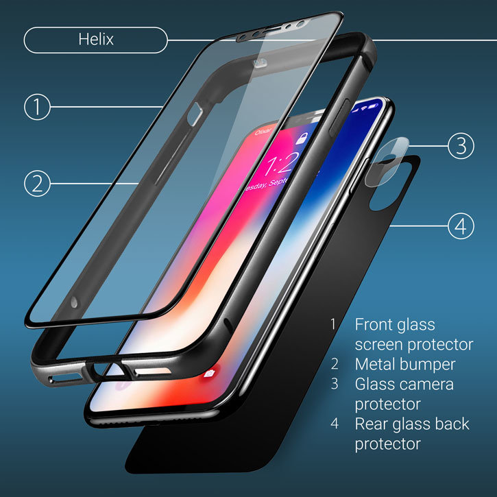 Olixar Helix iPhone X 360 Complete Protection System