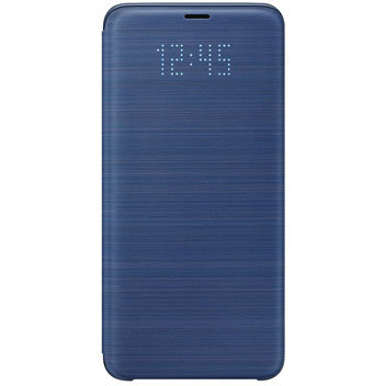Official Samsung Galaxy S9 Plus LED Flip Wallet Cover - Blue