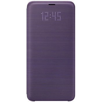 Official Samsung Galaxy S9 Plus LED Flip Wallet Cover - Purple