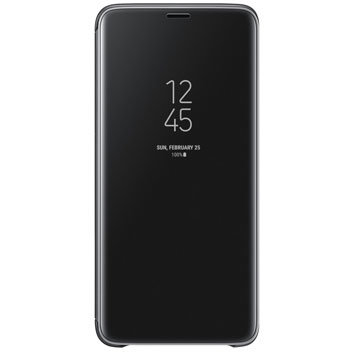 Official Samsung Galaxy S9 Plus Clear View Stand Cover Case - Black