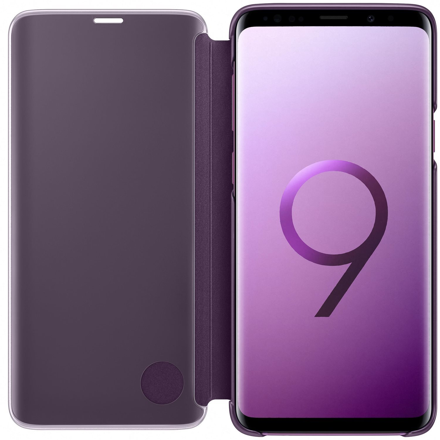 Official Samsung Galaxy S9 Plus Clear View Stand Cover Case - Purple