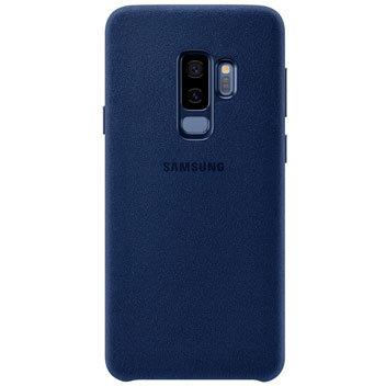 Coque Officielle Samsung Galaxy S9 Plus Alcantara Cover – Bleue vue sur appareil photo