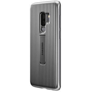 Stand Cover Officielle Samsung Galaxy S9 Plus - Argent vue sur appareil photo
